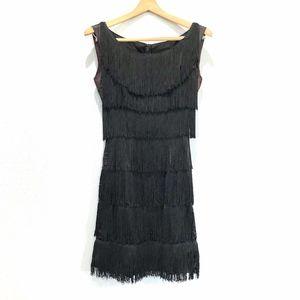 {VINTAGE} 20s Flapper Gatsby Costume Fringe Dress